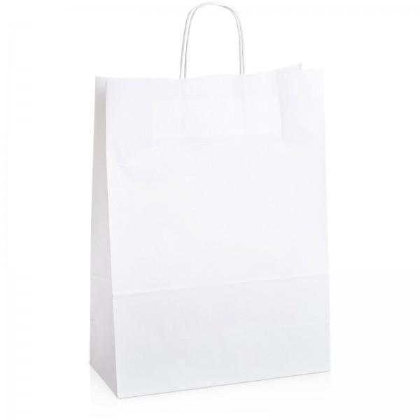 Einkaufstasche aus Kraftpapier Weiß -groß-