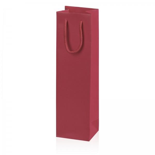 "Papiertragetasche ""Linea"" Bordeaux mit Streifenprägung 1er"