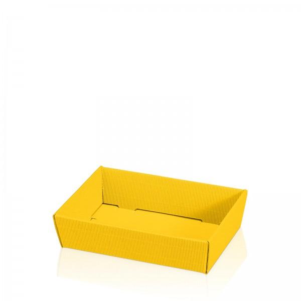 """""""Präsentkorb flach viereckig Modern Gelb"""" -mini-"""