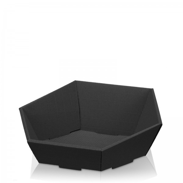 Präsentkorb 6-eckig Modern Schwarz -mittel-