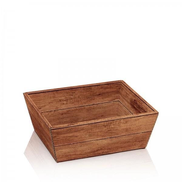 """Präsentkorb 4-eckig """"Timber"""" -klein-"""