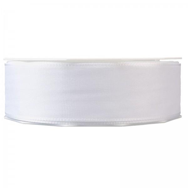 """Geschenkband """"Uni"""" Weiss 40mm x 50m"""