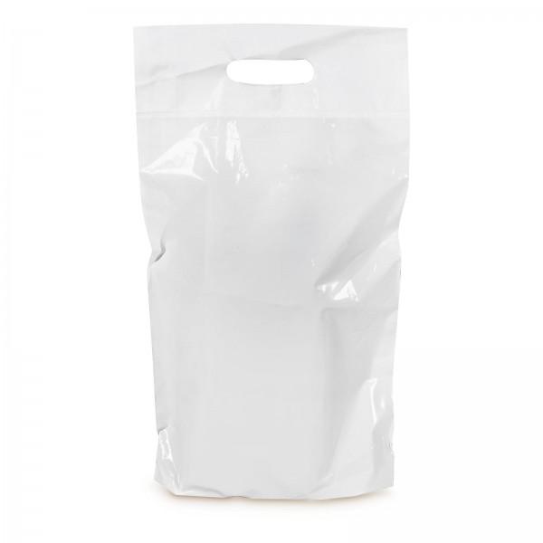 LDPE-Einkaufstasche 2er Weiß mit Griffverstärkung