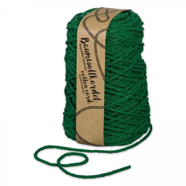 Baumwollkordel Dunkelgrün, 5mm x 80m
