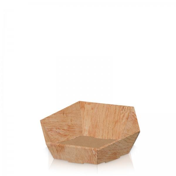 """Präsentkorb 6-eckig """"Modern Holz"""" -klein-"""