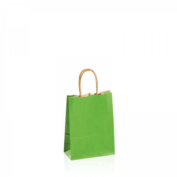 Einkaufstasche aus Kraftpapier Grün -klein-