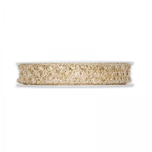 Geschenkband Litze Gold, 15mm x 20m
