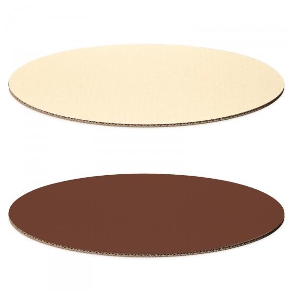 Dekoplatte Schokobraun/Creme -M- oval