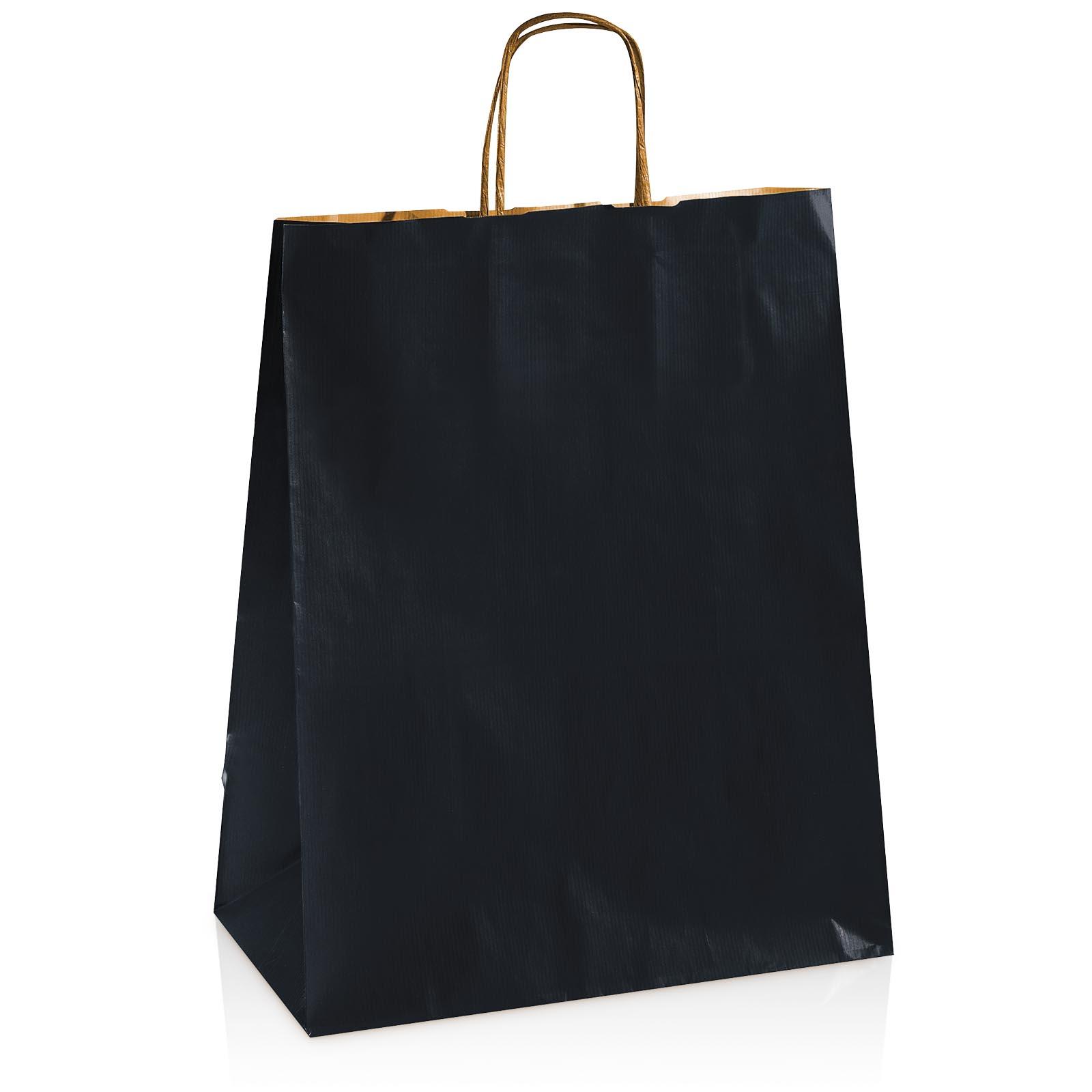 einkaufstasche aus kraftpapier schwarz gro taschen. Black Bedroom Furniture Sets. Home Design Ideas