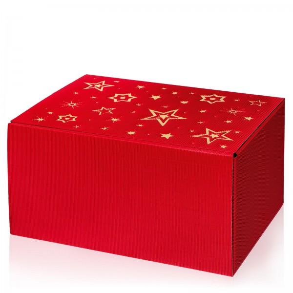 """Modern Rot Stella"" mit Goldprägung, 6er Präsentkarton"
