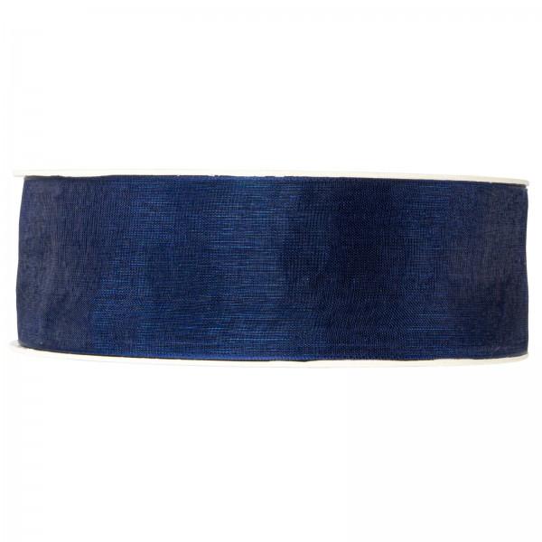 """Geschenkband """"Organza Blau"""" 40mm x 50m"""