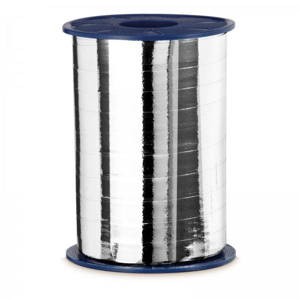 """Geschenkband """"Ringelband Metallic-Silber"""" 10mm x 250m"""
