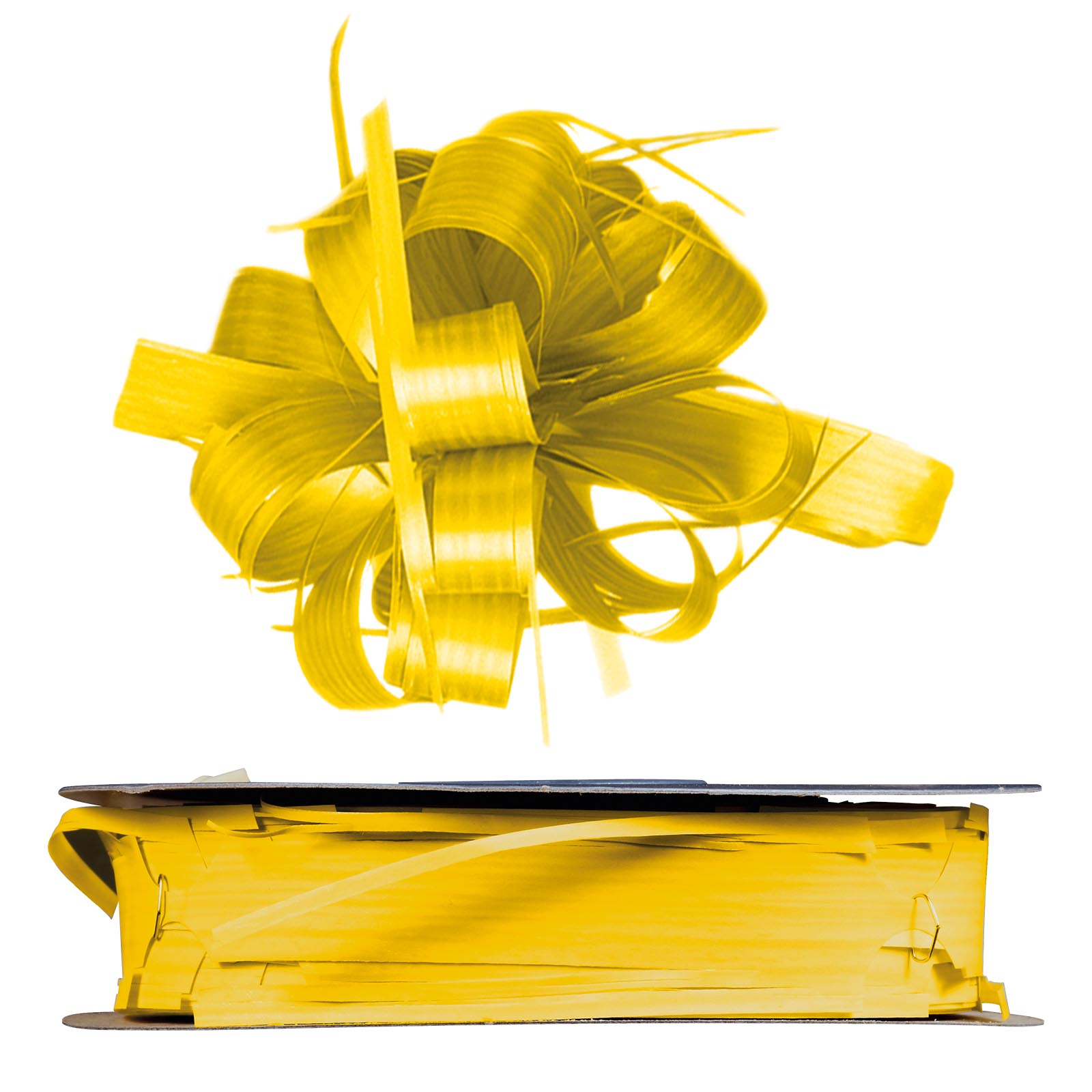 Ziehschleifenband country gelb 25mm x 40m for Restposten dekoartikel