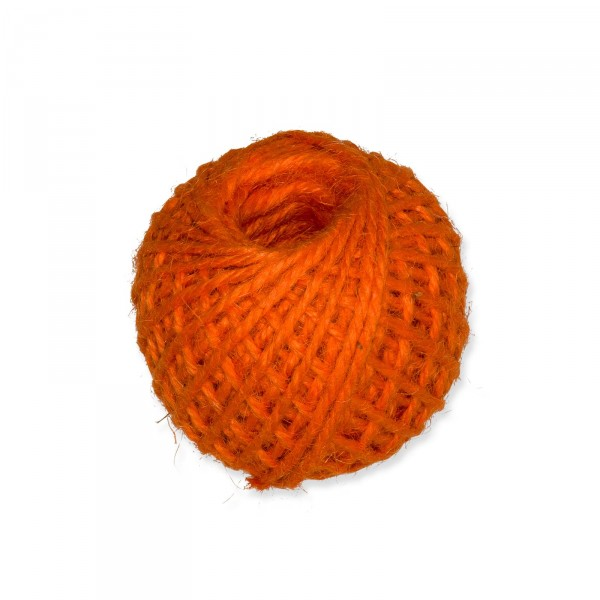 Jutekordel Orange, 3mm x ca. 46m