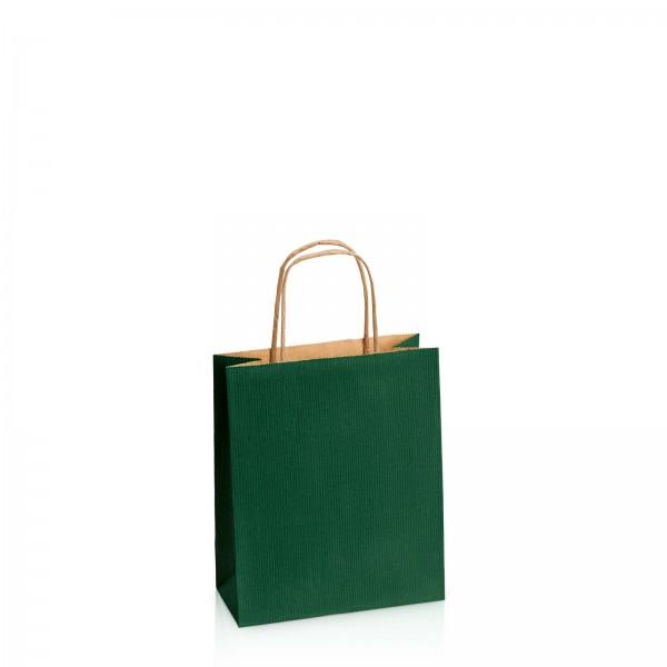 Einkaufstasche aus Kraftpapier Dunkelgrün -S-