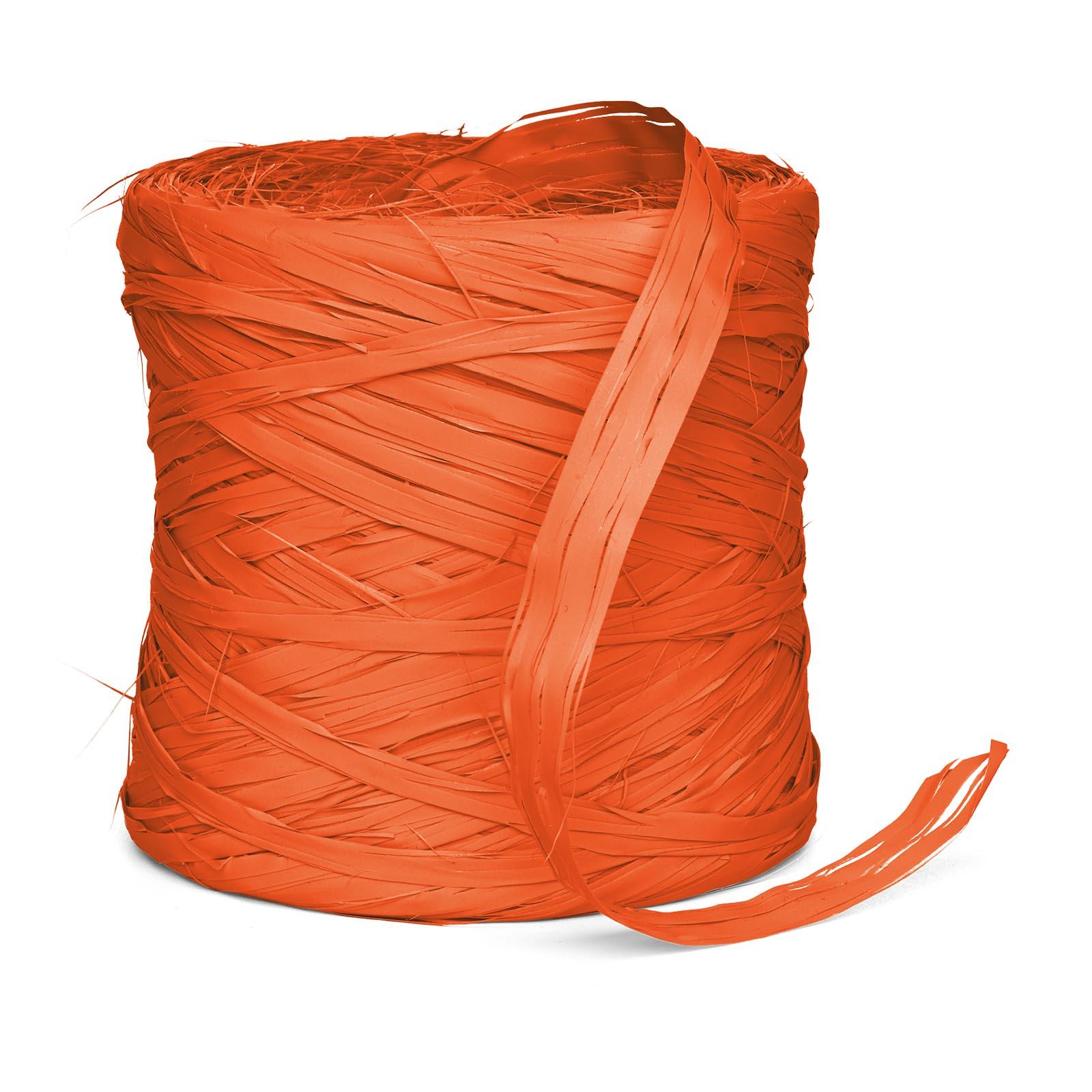 Geschenkbast raphia synthetik orange 200m geschenkbast for Restposten dekoartikel