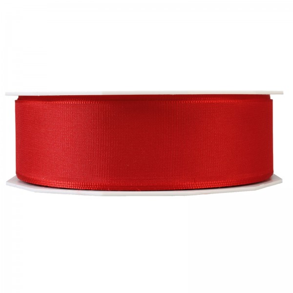 """Geschenkband """"Uni"""" Rot 40mm x 50m"""