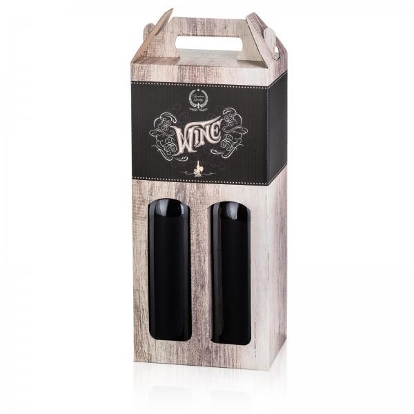 """""""Wood Wine"""", 2er Tragekarton 0.75l Wein"""