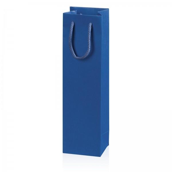 """Papiertragetasche """"Linea"""" Blau mit Streifenprägung 1er"""