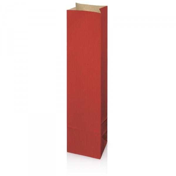 Flaschenbeutel aus Kraftpapier Rot Wein/Sekt
