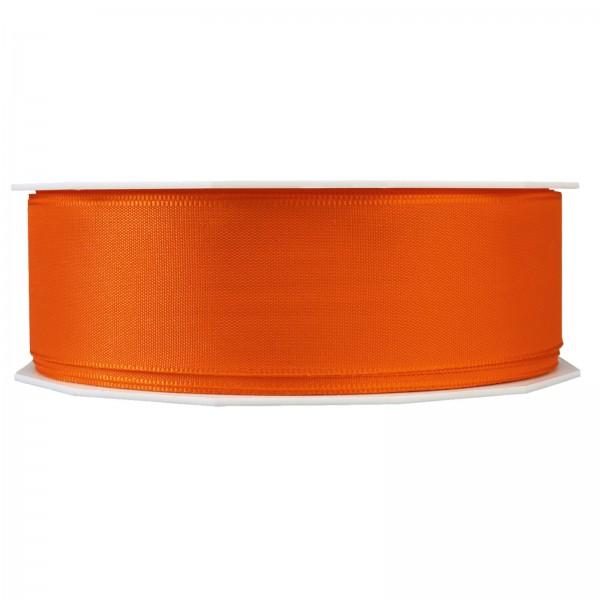"""Geschenkband """"Uni"""" Orange 40mm x 50m"""