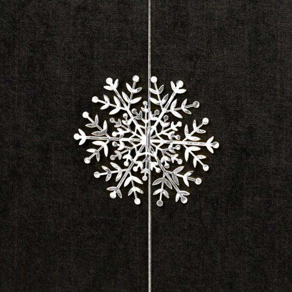 Schneeflocke mit Gummiband, Silber