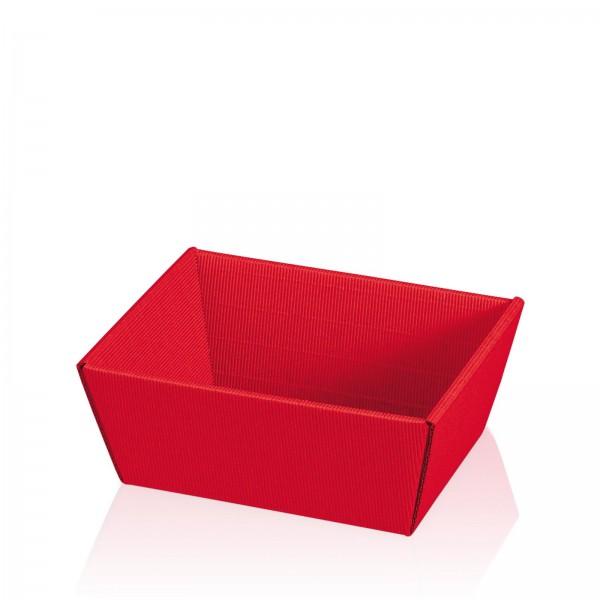 """Präsentkorb 4-eckig """"Modern Rot"""" -klein-"""