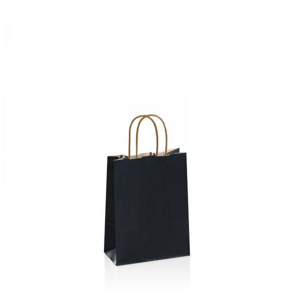 Einkaufstasche aus Kraftpapier Schwarz -klein-
