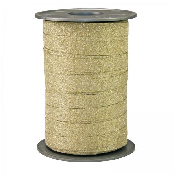 "Ringelband ""Glitter"" Gold 10mm x 100m"