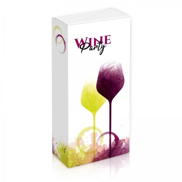 """""""Wineparty"""", 2er Faltschachtel"""