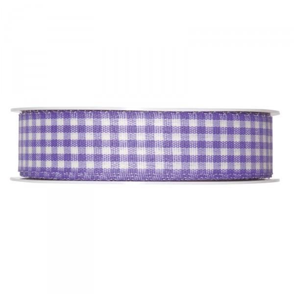 """Geschenkband """"Vichy-Karo"""" Lavendel 25mm x 25m"""