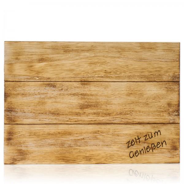 Holz-Dekoplatte, geflammt