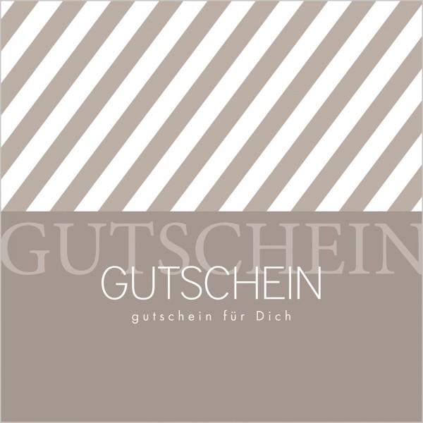 """Gutschein """"Streifen"""" Grau"""