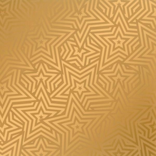 """Geschenkpapier """"Stars"""" Gold"""