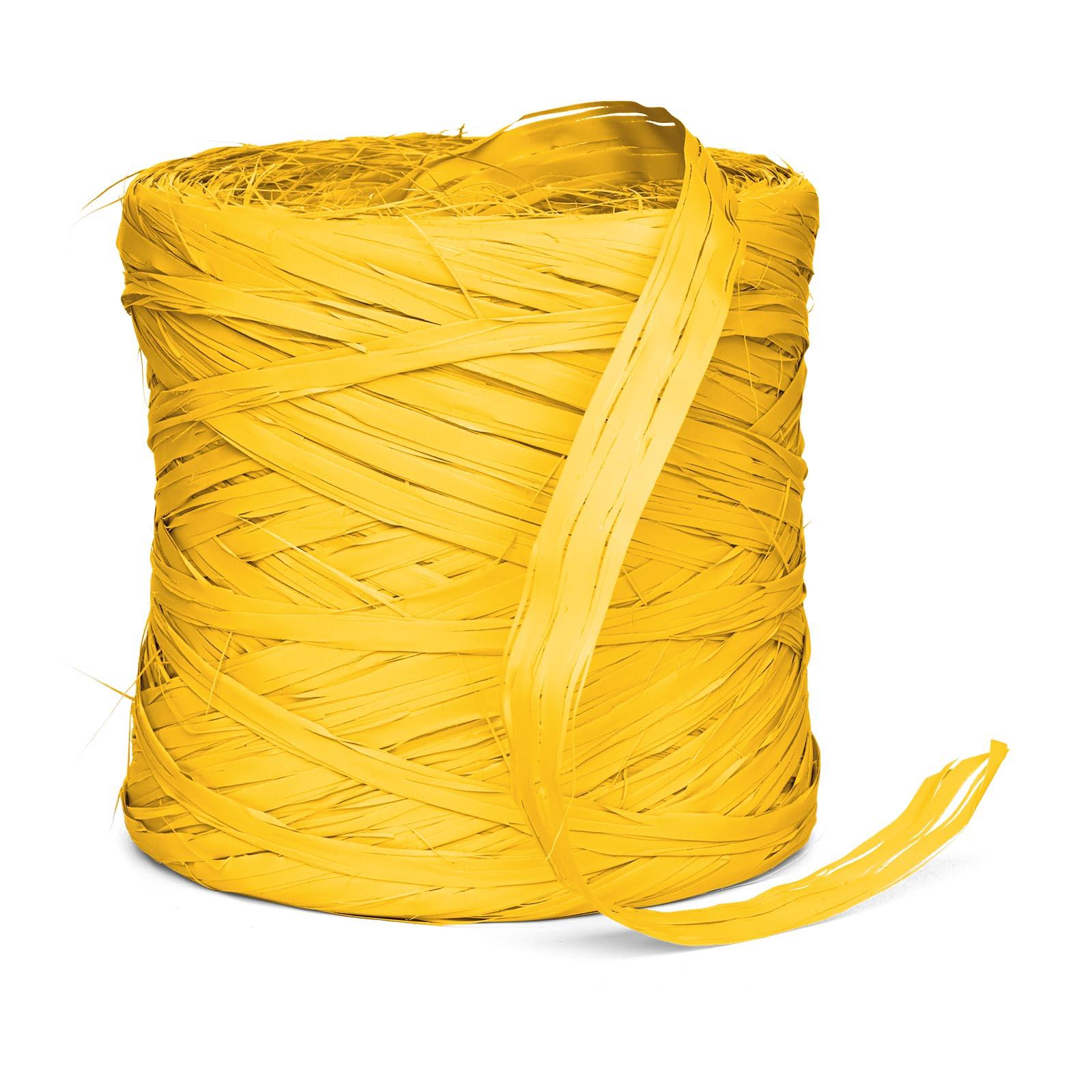 Geschenkbast raphia synthetik gelb 200m geschenkbast for Restposten dekoartikel