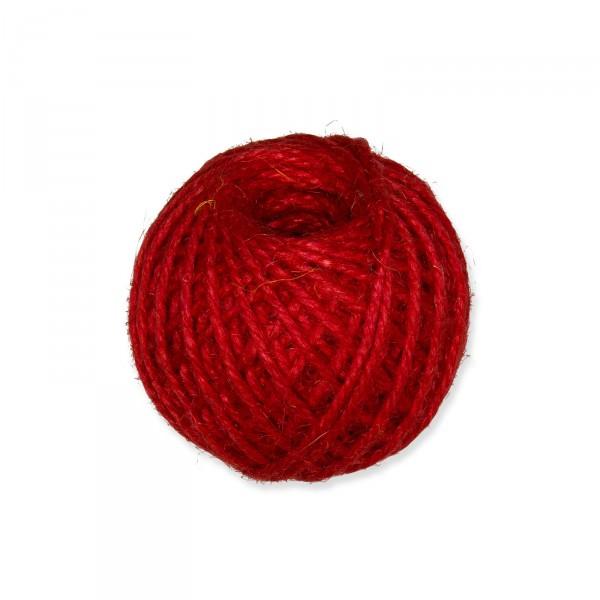Jutekordel Rot, 3mm x ca. 46m