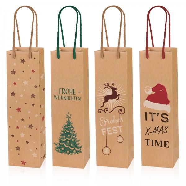 """Tragetasche Sortiment """"Christmas"""" Kraftpapier Natura 1er"""