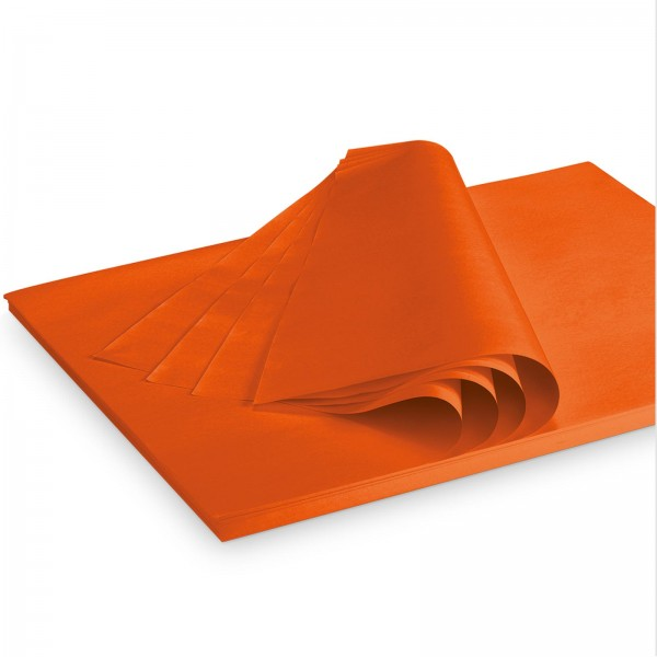 "Seidenpapier ""Orange"" 35g/qm 500x375mm 2 Kg/ ca.300 Blatt"