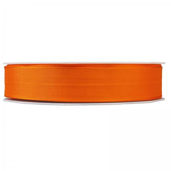 """Geschenkband """"Uni"""" Orange 25mm x 50m"""