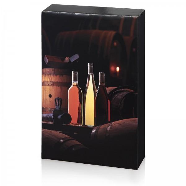 """""""Weinkeller"""", 3er Faltschachtel für 0.75l Wein"""