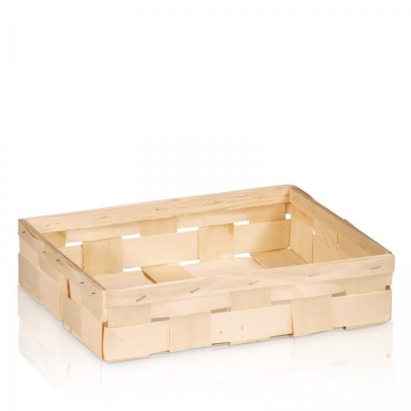 Holzspankorb Natur 3er Wein/Sekt