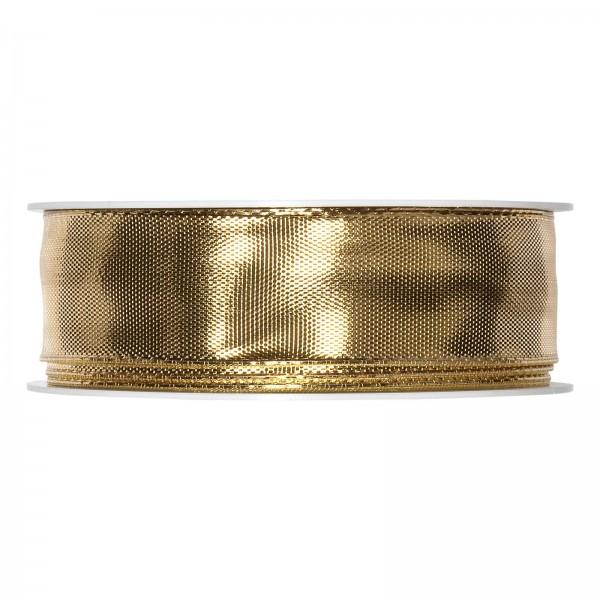 "Geschenkband ""Uni"" Gold-Metallic 25mm x 25m"