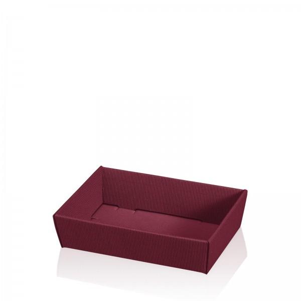 "Präsentkorb 4-eckig ""Modern Bordeaux"" -flach mini-"