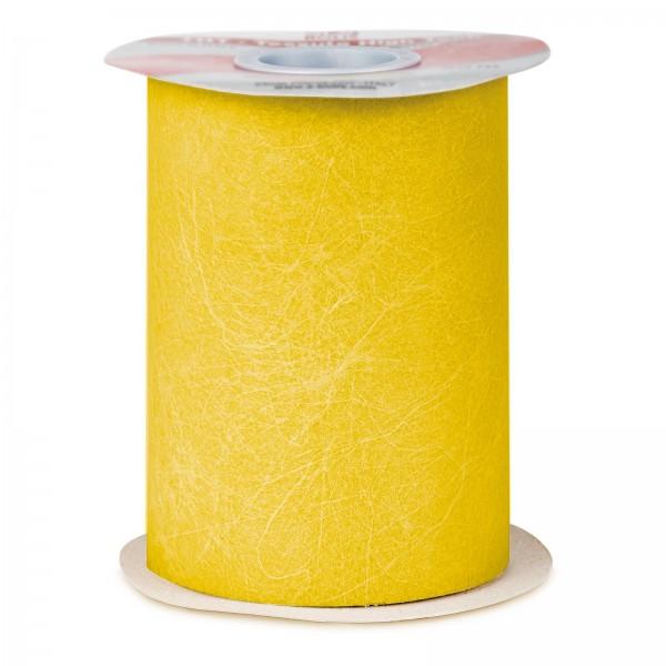 "Geschenkband ""Deko-Vlies"" Gelb, 125mm x 50m"