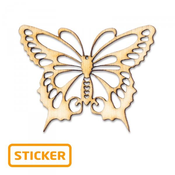 """Holzsticker """"Schmetterling"""", 4 x 3,2cm, 6 Stück/Karte"""