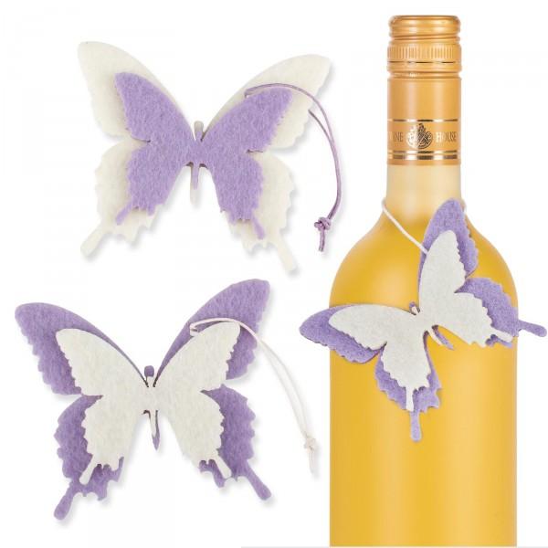 "Anhänger ""Papillon"" Schmetterling 2-fach sort. Lila/Creme"
