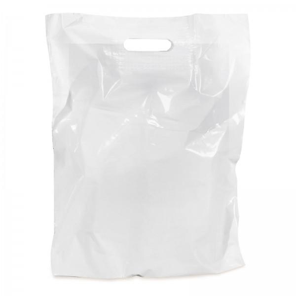 LDPE-Einkaufstasche 3er Weiß mit Griffverstärkung