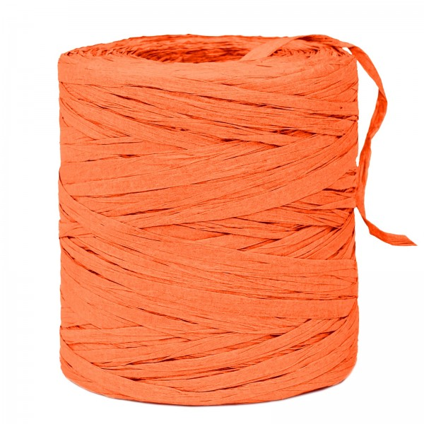 """Geschenkbast """"Paper-Raffia"""" Orange, 5mm x 200m"""
