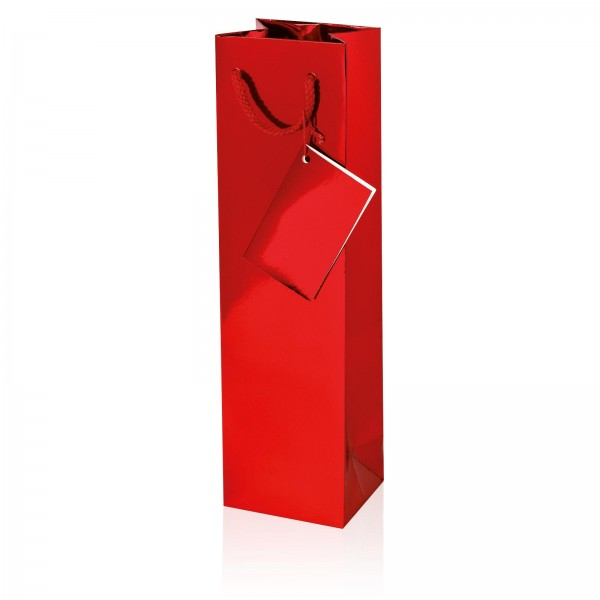 Tragetasche Metallic-Rot Hochglanz 1er