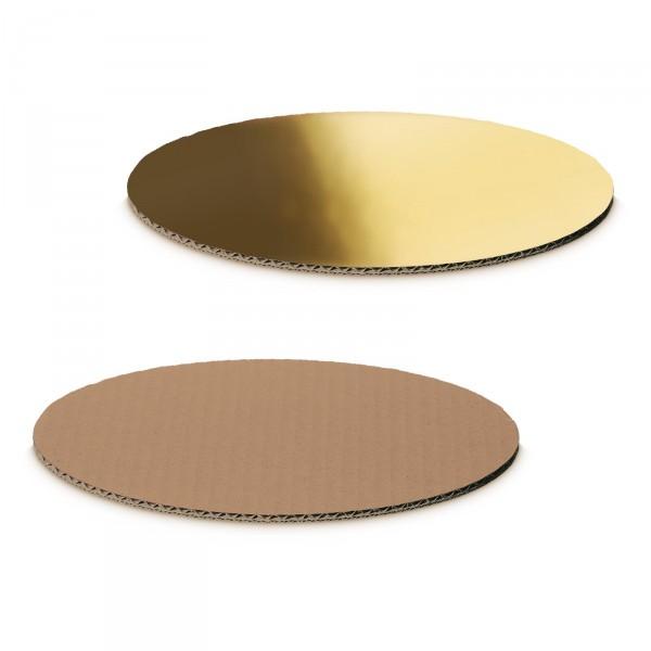 """Dekoplatte Gold-Metallic/Natur"" -S- oval"
